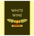 white wine label vector image