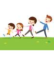 Cute family walking vector image
