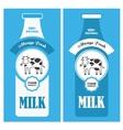 Milk poster vector image