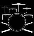 drum kit music instrument vector image