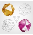 Abstract 3D sphere set vector image vector image