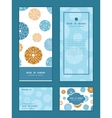 abstract blue brown vintage circles back vector image vector image
