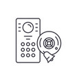 alarm system line icon concept alarm system vector image vector image