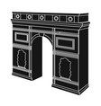 arc de triomphe in paris arch building single vector image vector image