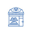 bakery line icon concept bakery flat vector image