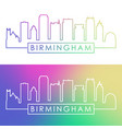 birmingham usa skyline colorful linear style vector image vector image