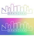 birmingham usa skyline colorful linear style vector image