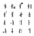 Builders Silhouette Flat Icon Set vector image