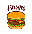 burger american fast food element for design vector image vector image