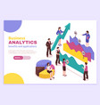 business analyst poster vector image vector image