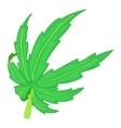 Cannabis leaf icon cartoon style vector image vector image