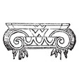 capital surface vintage engraving vector image vector image