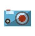 cartoon photographic camera image beach with vector image
