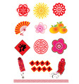 chinese new year element vector image vector image