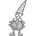 christmas elf for coloring book vector image vector image