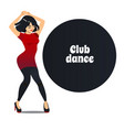 club dance in cartoon style vector image vector image