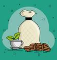 coffe beans cartoon vector image