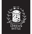 Cooking Battle Sign with Laurel and Label