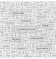 COOPERATION vector image vector image