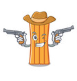 cowboy air mattress character cartoon vector image