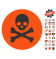 death icon with valentine bonus vector image vector image