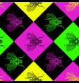 disco 80s fly seamless pattern vector image vector image