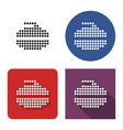 dotted icon curling stone in four variants vector image