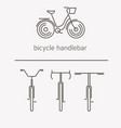 equipment for transport driving logo set bicycle vector image