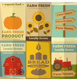 Farm Food Posters vector image vector image