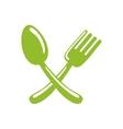 fork spoon cutlery icon graphic vector image vector image