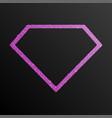 frame pink purple sequin diamond vector image