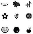 fresh icon set vector image