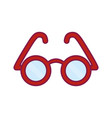 glasses icon imag vector image vector image