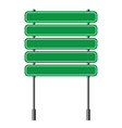 green traffic road sign on white background vector image