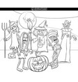 halloween holiday cartoon funny characters vector image vector image
