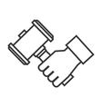 hammer wood gavel icon vector image