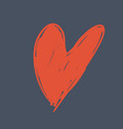 hand drawn heart icon on white vector image vector image