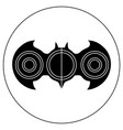 hand-spinner in the form of a bat vector image vector image