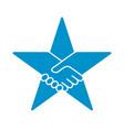 handshake form star icon vector image