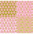 Happy Easter eggs pattern background vector image vector image