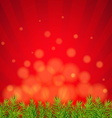 Happy Xmas Border With Red Sunburst vector image