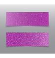 Horizontal set Pink sequins banners Glitter vector image vector image