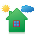 house sun and cloud concept 01 vector image