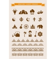 india - collection icons and elements vector image vector image