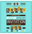 Invitation card for birthday in retro style vector image