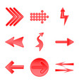 isolated object of element and arrow sign set of vector image