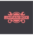 Japan auto service repair wrench car logo sign vector image vector image