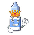 king eye drops isolated with characters vector image vector image