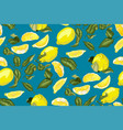 lemon fruit seamless pattern there are citrus vector image