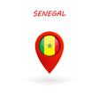 location icon for senegal flag vector image